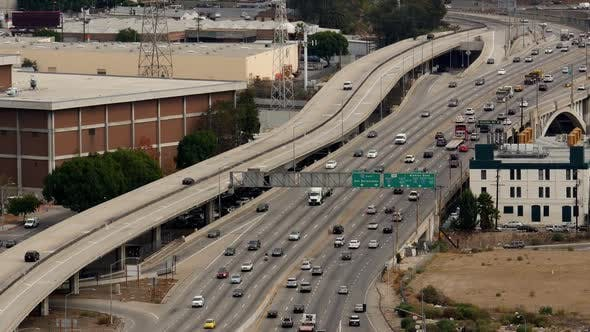 Thumbnail for Traffic On Busy Freeway In Downtown Los Angeles 1
