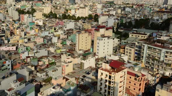 Cover Image for Shadows Sweeping Across Rooftops In Ho Chi Minh City Vietnam 3