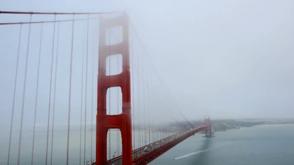 Thumbnail for Golden Gate Bridge Covered In Fog -  1