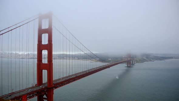 Cover Image for Golden Gate Bridge Covered In Fog - 2
