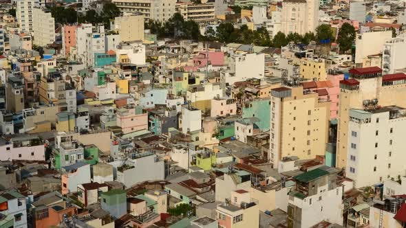 Thumbnail for Shadows Sweeping Across Rooftops In Ho Chi Minh City Vietnam 9