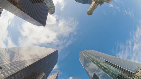 Thumbnail for Skyscrapers In Downtown Los Angeles With Clouds 2