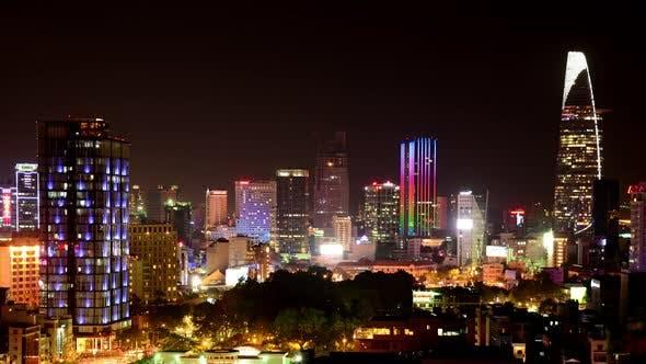 Thumbnail for Ho Chi Minh City At Night (Saigon) 4