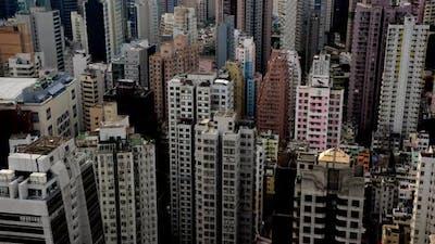 Hong Kong Busy Skyline - Hong Kong China