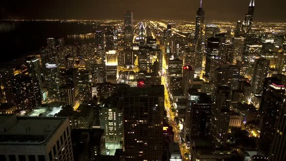 Overhead View Of Chicago