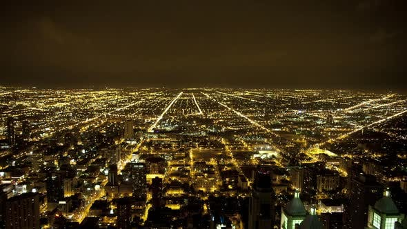 Thumbnail for Overhead View Of Downtown Chicago  3