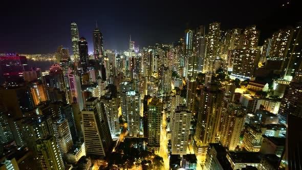Cover Image for Hong Kong Skyline And Victoria Harbour At Night - Hong Kong China 12