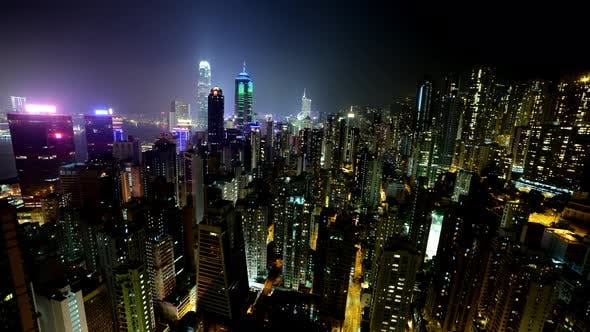 Cover Image for Hong Kong Skyline And Victoria Harbour At Night - Hong Kong China 4