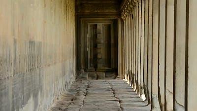 Ancient Temple Hallway  - Angkor Wat Temple Cambodia 1