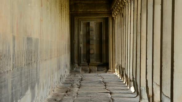 Thumbnail for Ancient Temple Hallway  - Angkor Wat Temple Cambodia 1