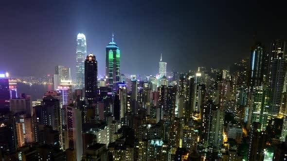 Cover Image for Hong Kong Skyline And Victoria Harbour At Night - Hong Kong China 5