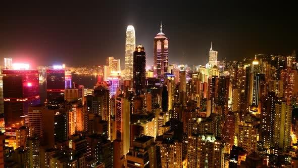 Cover Image for Hong Kong Skyline And Victoria Harbour At Night - Hong Kong China 8