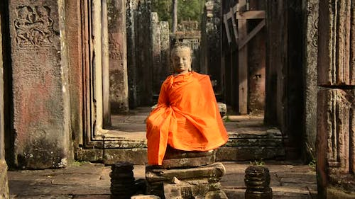 Buddha In Ancient Temple  - Angkor Wat Temple Cambodia 3