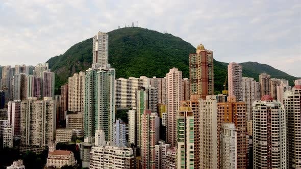 Cover Image for Hong Kong Skyline And Victoria Peak - Hong Kong China 2