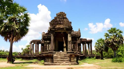 Small Side Temple In Main Temple Complex - Angkor Wat Cambodia