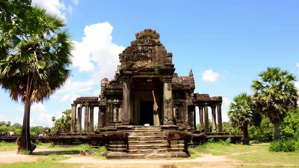Small Side Temple In Main Temple Complex - Angkor Wat Temple Cambodia