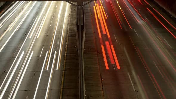 View Of Traffic On Busy Freeway In Downtown Los Angeles 1