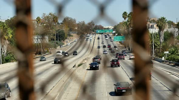 Thumbnail for Traffic On Busy 101 Freeway In Los Angeles California 4