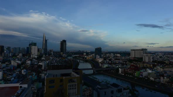 Thumbnail for Time Lapse Of Sunset In Ho Chi Minh City (Saigon) 1