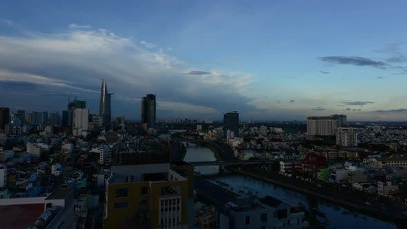 Thumbnail for Time Lapse Of Sunset In Ho Chi Minh City (Saigon) 2