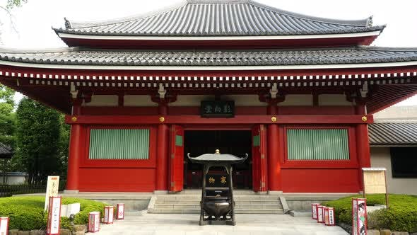Thumbnail for Zoom Out Of Side Temple At Sensoji Temple  -  Tokyo Japan