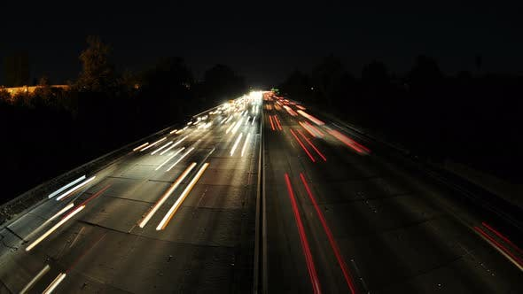 Thumbnail for Time Lapse Of Busy Freeway In Los Angeles - 4k - 4096x2304 1
