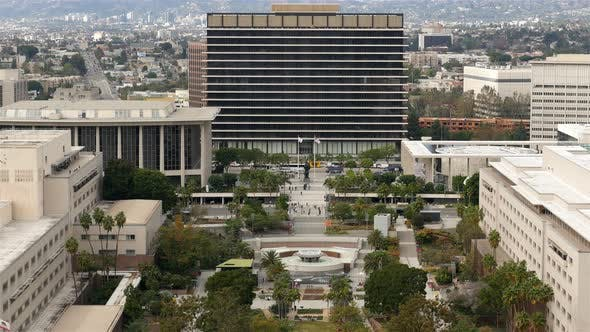 Cover Image for Time Lapse Of The Dwp Building From Above In Downtown Los Angeles 2