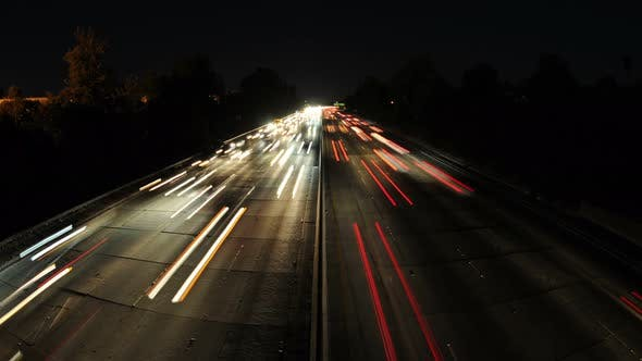 Thumbnail for Time Lapse Of Busy Freeway In Los Angeles - 4k - 4096x2304 2