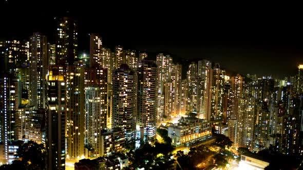 Thumbnail for Hong Kong Skyline At Night - Hong Kong China 1