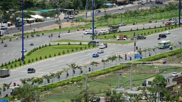Thumbnail for Busy Hanoi Highway From Above - Ho Chi Minh City Vietnam