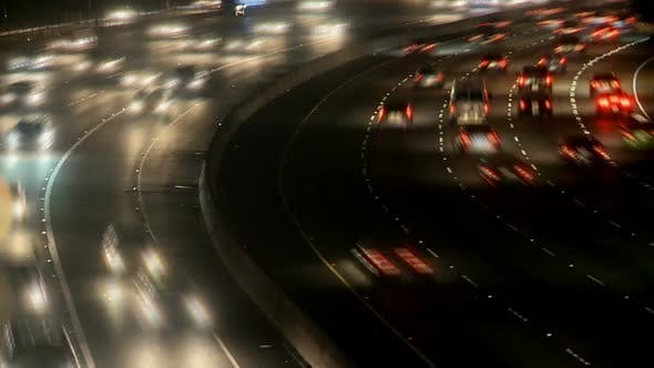 Cover Image for Busy Highway At Night, Los Angeles 1