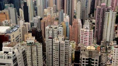 Busy Hong Kong Skyline - Hong Kong China