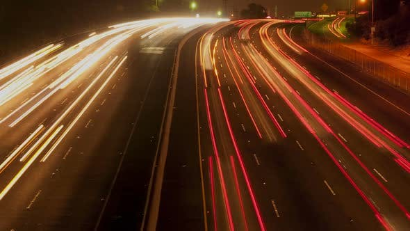 Thumbnail for Busy Los Angeles Freeway At Night 2
