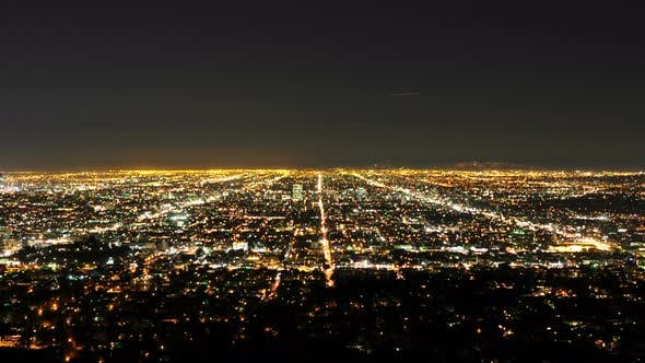 Thumbnail for Time Lapse Of Los Angeles At Night- 4k 1