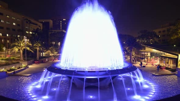 Thumbnail for Los Angeles City Hall And Fountain Nighttime 3