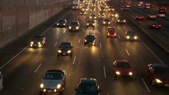 Thumbnail for Los Angeles Freeway Traffic - Clip 3