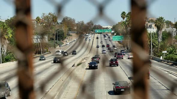 Thumbnail for Traffic On Busy Freeway In Los Angeles California 5