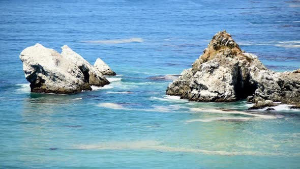 Thumbnail for Pacific Ocean Waves Crashing On Rocks - Big Sur 5