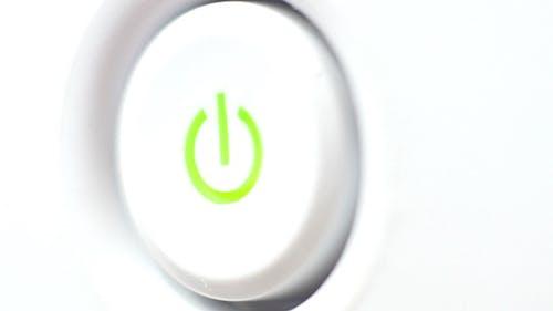 Pushing Power Button