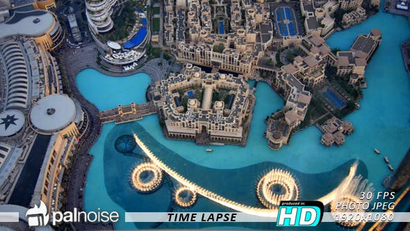 Thumbnail for Dubai Fountain Show From Top, Fast