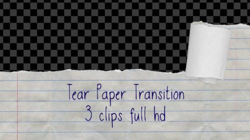Tear Paper Transition