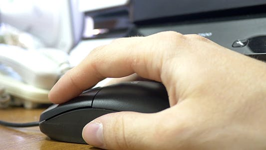 Thumbnail for Office Worker Using PC Mouse