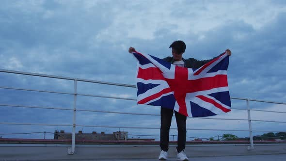 Man with the United Kingdom flag