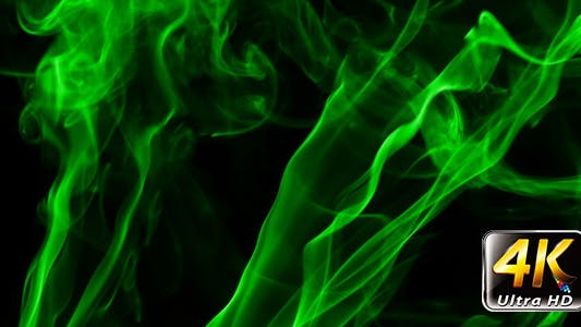 Thumbnail for Abstract Green Fluid Smoke Element Turbulence