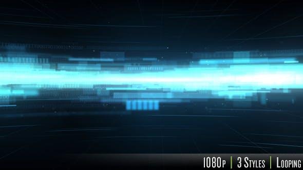 Virtual Glowing Tech Data