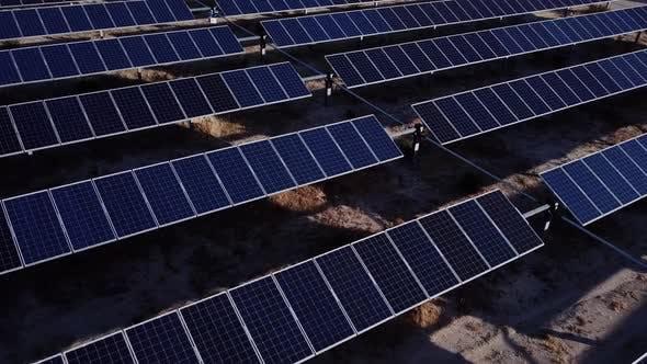 Thumbnail for Aerial Shot Of Solar Panels