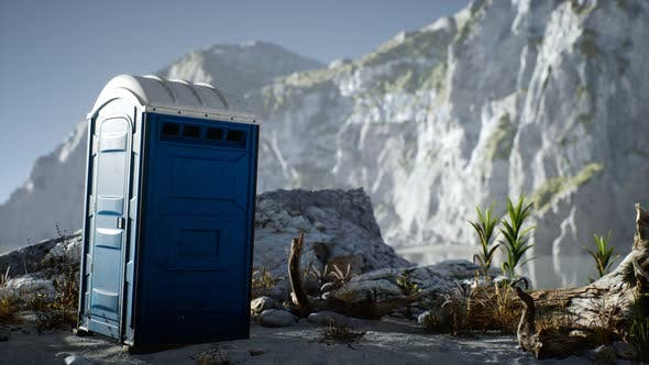 Thumbnail for Portable Mobile Toilet in the Beach. Chemical WC Cabin