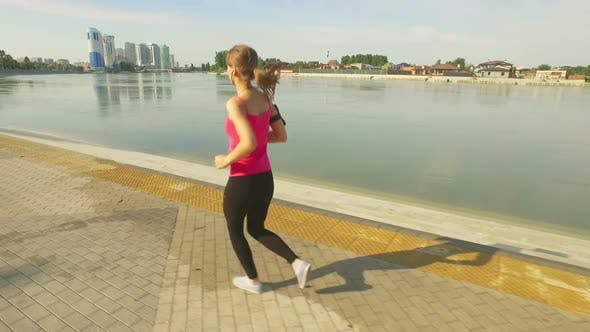 Thumbnail for Runner Woman Running In City Exercising Outdoors 9