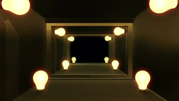 Square Light Bulb Bg 4k