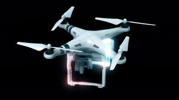 Thumbnail for High Technology Drone Hud Hologram 4k